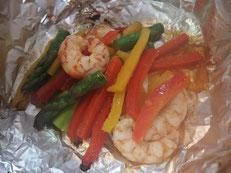 えびと野菜のホイル焼き 完成