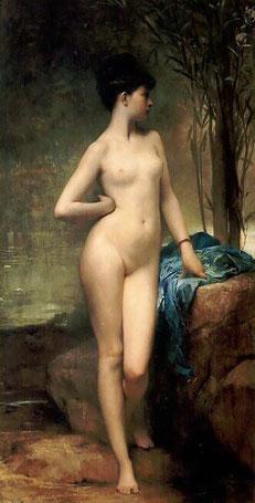 Jules Joseph Lefebvre - Chloé, huile sur toile, 1872 / https://commons.wikimedia.org