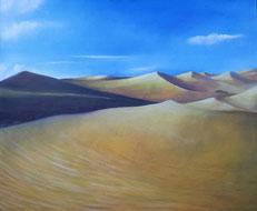 Titolo, dune.   Anno, 2016.  Tecnica,  olio su tela.  Dimensioni,  cm 60 x cm 50.