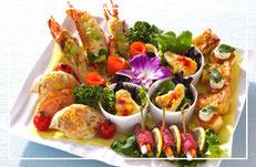 家族葬で使用する料理の写真