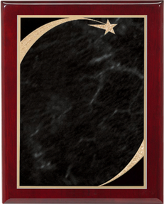 Rosewood Piano Finish Plaque shooting Star Plate