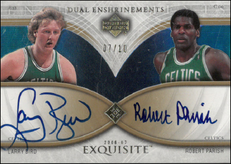 LARRY BIRD & ROBERT PARISH / Dual Enshrinements - No. DEX-BP  (#d 7/10)