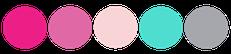 Paleta de color rosado para bodas fucsia plateado y turquesa