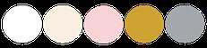 Paleta de colores para boda en blanco rosado pastel dorado y plateado