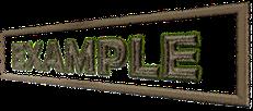 会社のロゴのアルファベットの例示