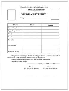 ベトナム人との結婚手続き・結婚証明書