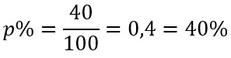 Beispiel für die Berechnung des Prozentsatzes