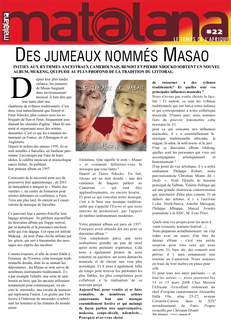 Les jumeaux de Masao article journal Matalana
