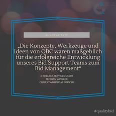 Aufbau und Professionalisierung von Bid Management-Abteilungen