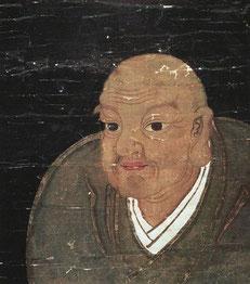 日蓮画像。山梨県・久遠寺蔵