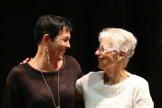 Katia Schidlbauer mit Illustratorin Noura M. El Kordy
