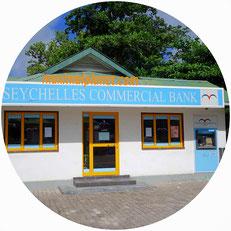 Geld wechseln abheben ziehen kreditkarte ec-karte bank seychellen la digue