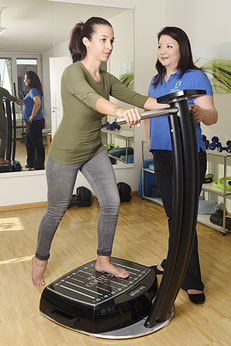Galileo Vibrationsplatte, Physiotherapie Basel