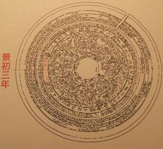 景初三年の名が入った銅鏡。島根県雲南市神原神社古墳出土 文化庁所蔵重要文化財(島根県立古代出雲歴史博物館蔵)
