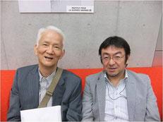 初代ドラッカー学会会長の上田惇生さんと。田中は企画委員として、上田さんを支えてきた。