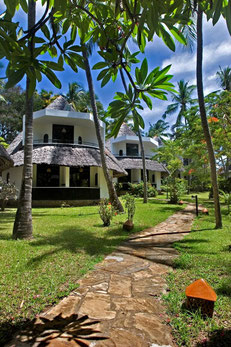 Bungalows at the Severin Sea Lodge, Mombasa, Kenya. Dante Harker