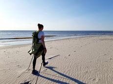 Nordic Walking, Sankt Peter, Eiderstedt, Sankt Peter Ording, Bewegung, Strand Meer, Entspannung, Walking, Ausdauer, Kraft, Fitness, Outdoor