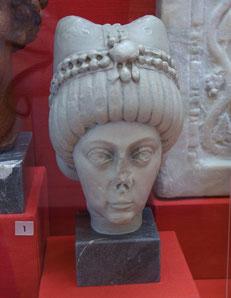 Marmorbüste der Kaiserin Theodora aus Mailand, um 530/40. Kopie, RGZM. Foto: Nina Möller