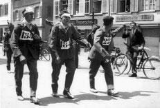 Läufergruppe beim Frauenfelder Militärwettmarsch