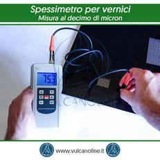 Misura al decimo di micron con spessimetro per vernici