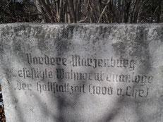 Gedenkstein der vorderen Märzenburg