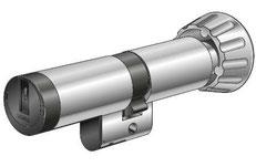 Der Kaba elolegic Zylinder im Schweizer 22-mm-Profil ist ein technisches Meisterwerk. Die Identifizierung erfolgt rein elektronisch über den Schlüsselchip.
