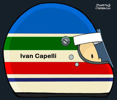 Helmet of Ivan Capelli by Muneta & Cerracín