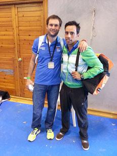 De izquierda a derecha, Kiki Somé y Antonio Ruiz