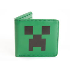 Minecraft Creeper Face Leather Wallet マインクラフトクリーパー財布 JNX-004
