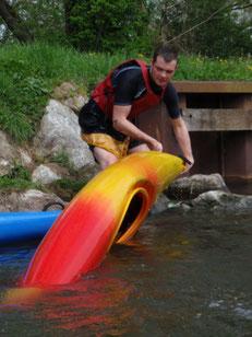kayak eau vive base nautique Picquigny Somme Picardie