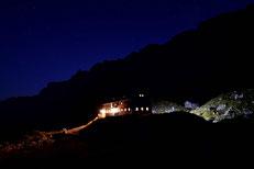 Karwendel, Lamsenjochhütte, Österreich,alpen,Tirol,wandern,trekking,hikking,alps,mountainhut,berghütte,nacht, Light, nightcapture, himmel,urlaub,ferien,gemütlich,abenteuer,klettern,klettersteig,transalp,münchen-venedig, ahornboden,Alpenverein,