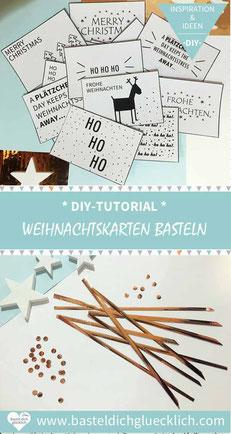 Gebastelte Weihnachtskarten.Weihnachtskarten Basteln Schnelle Und Einfache Weihnachtsgrüße