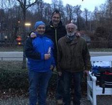 Die erfolgreichen Adventsbouler 2018 v.l. Helmut (1.), Ralf (2.) und Gerard (3.)