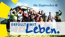 """Logo der Zieglerschen """"Erfüllt mit Leben"""""""