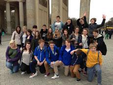 Fröhliche Stimmung am Brandenburger Tor