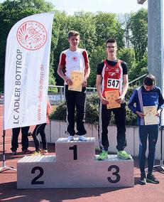 Marius Lewald gewinnt den Block Sprint und qualifiziert sich damit für die Dtsch. U16 Meisterschaften