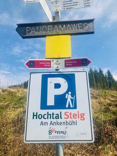 Wanderparkplatz des Schwarzwälder Genießerpfades  Bernauer Hochtalsteig