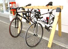 自作のロードバイク用スタンド