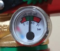 Manómetro indicador de presión interna. AprendEmergencias