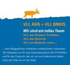 Überzeugender Erfolg bei den Personalvertretungswahlen in den Vorarlberger Höheren Schulen für die parteiunabhängige Vorarlberger Lehrer*innen Initiative (VLI)