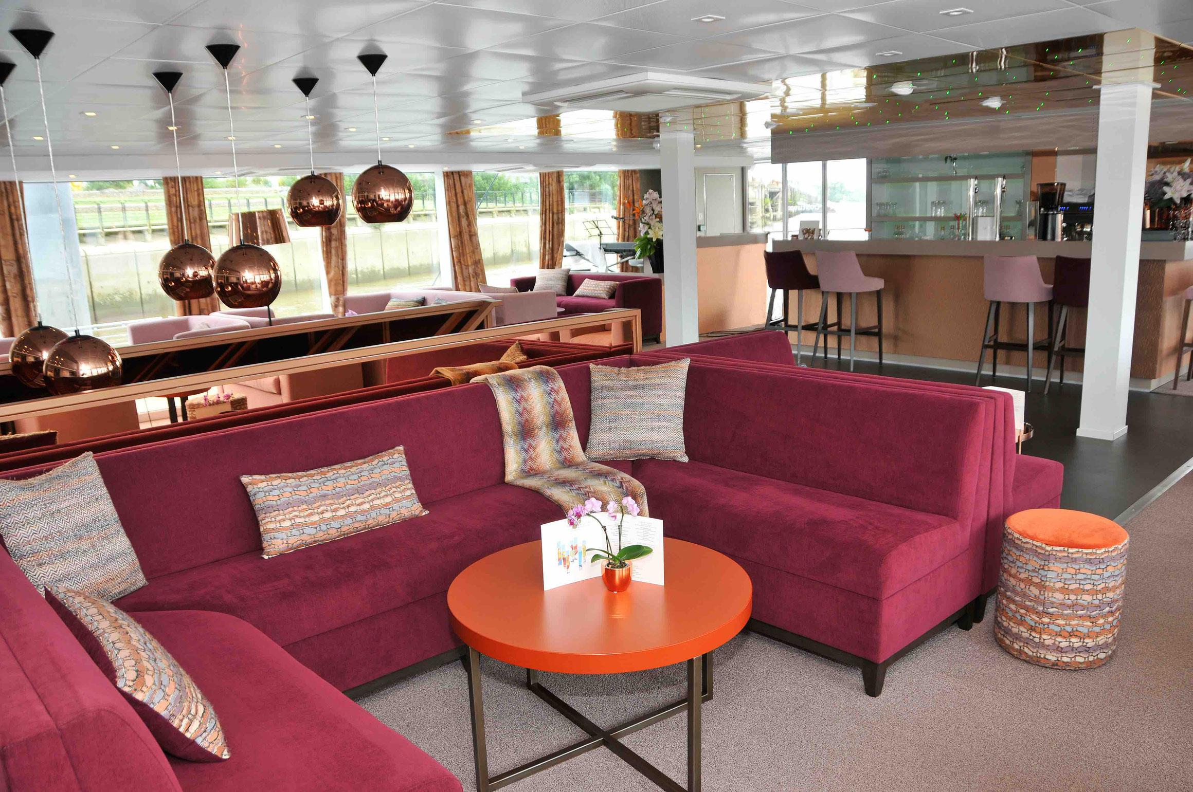 MS Loire Princesse Lounge mit Bar