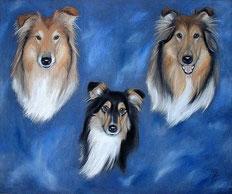 Gemälde von Debbie, Ivy & Honey