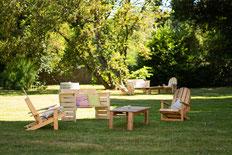 Salon de jardin en palettes récup !