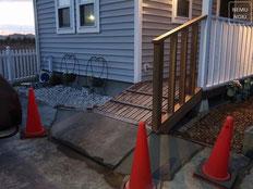 イタウバ、人工芝、固まる土、化粧立水栓、施工例