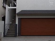 イタウバ、ウッドフェンス、目隠しフェンス、塗装、ロートアイアン、施工例