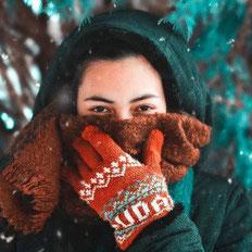 Handschuhe im Norweger Muster Hej
