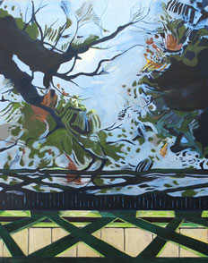 Wasser, Bäume, 2011, Öl auf Leinwand, 190 x 150 cm
