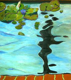 Seerosen3, 2011, Öl auf Leinwand, 170 x 150 cm