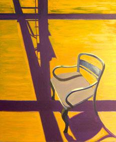 Stuhl, Schatten, 2011, Öl auf Leinwand, 150 x 130 cm