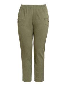modische Cargohose khaki  Plussize Damen Jeans, Größe 50